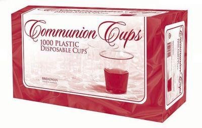1000 Plastic Disposable Communion Cups